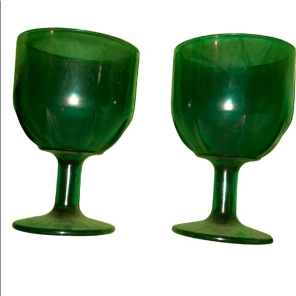 Two Vintage Turquoise Goblets